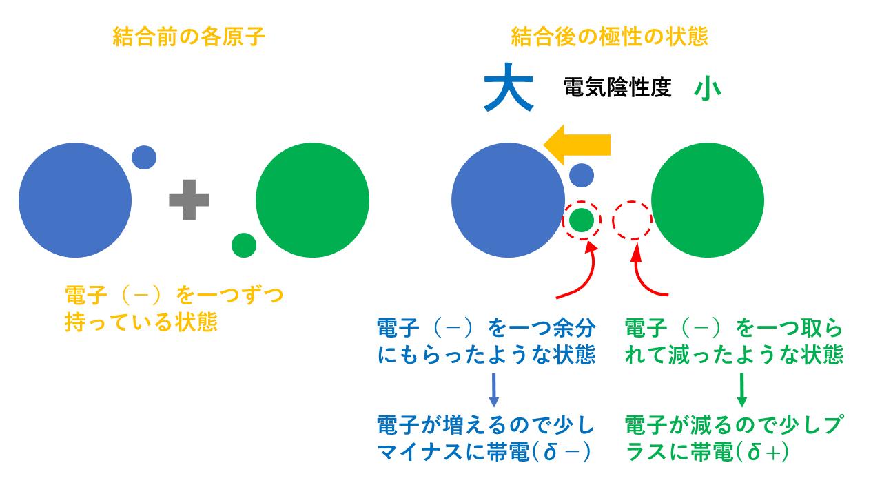 【3分でわかる】電気陰性度の定義と周期表での大小関係とその理由を図で徹底解説
