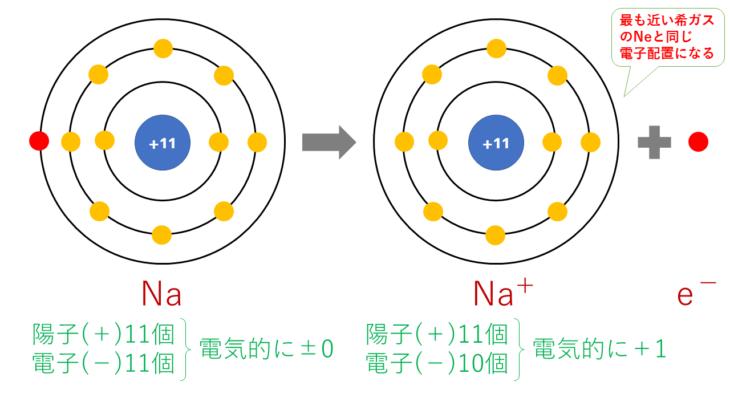【図解】陽イオン・陰イオン(単原子イオン)の価数の考え方と覚え方、電子配置について解説